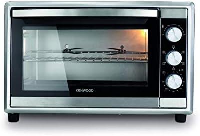 فرن كهربائي 2200 واط من شركة كينوود سعة كبيرة 56 لتر، مؤقت 120 دقيقة، 6 أوضاع طبخ، لون فضي - MOM56.000SS