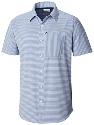 - Columbia Men's Twisted Creek Ii Short Sleeve Shirt, Azul, Large