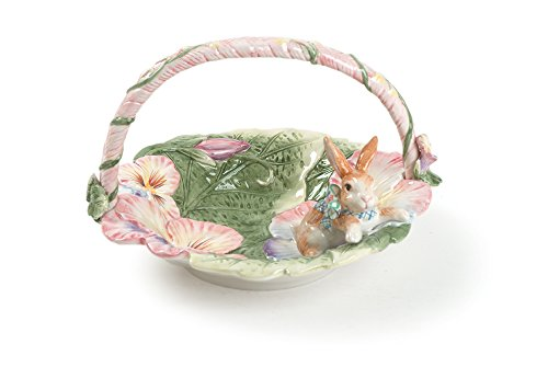 Fitz and Floyd Halcyon Collection, Basket, Multicolored