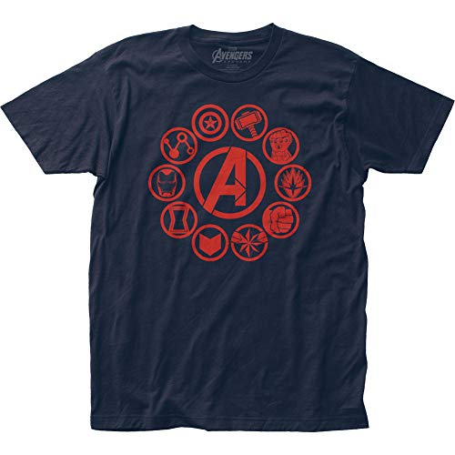 Avengers: End Game Icons Fitted Jersey tee (Small) Navy