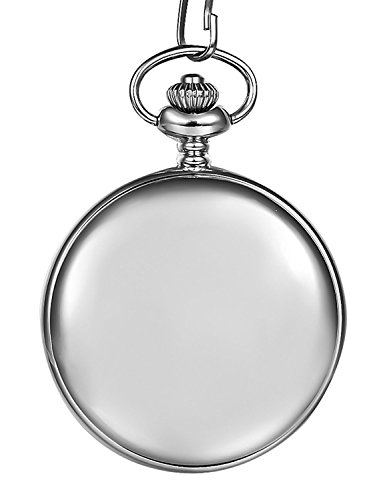 Retro Pocket Watch,TFSeven Classic Smooth Steel Archaize Pocket Watch - Make A Great Xmas Gift