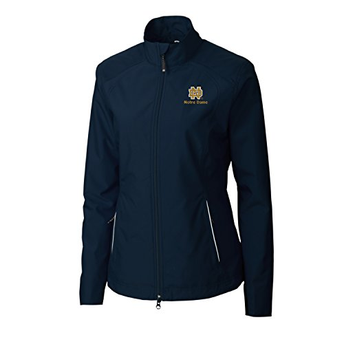 NCAA Notre Dame Fighting Irish Adult Women CB Weathertec Beacon Full Zip Jacket, 3X-Large, Navy Blue