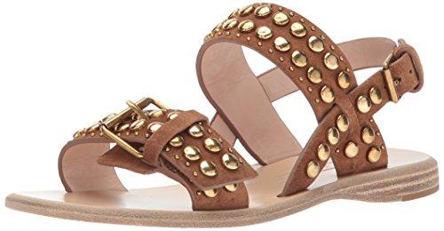 Marc Jacobs Women's Tawny Flat Studded Sandal, Tan 40 M EU (10 US)