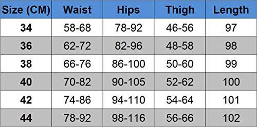 Leggings Elasticità Pantaloni Qitunc Skinny Jeans Blu Casual Strappati Denim Toppa Donna gzXPqz