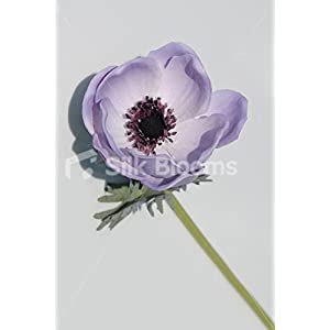 Single Artificial Fresh Touch Lilac Anemone, Silk Lilac Poppy 9