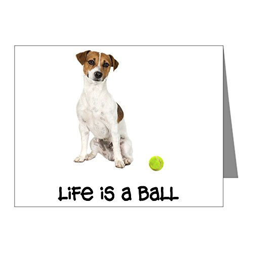 (CafePress - Jack Russell Terrier Life Note Cards (Pk Of 20) - Blank Note Cards (Pack of 20) Matte)