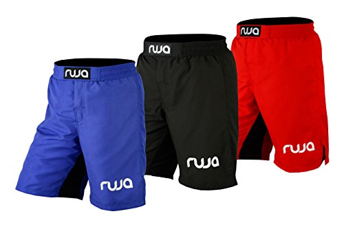 Ruja Men's Pro MMA Boxing Fitness Training Shorts, Black, Blue, Red