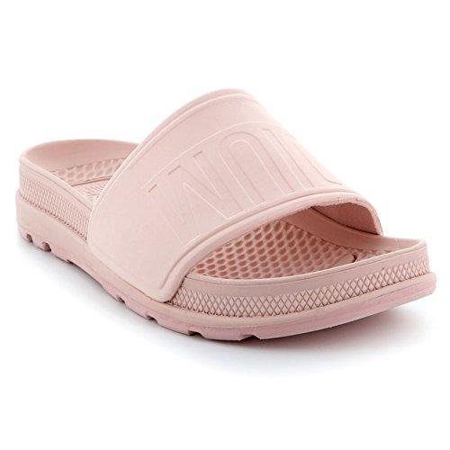 Palladium Damen Pampa Solea (Metro) Schieber Strand Schwimmbad Damen Offene Zehen Sandalen Pfirsich Peitsche - Pink