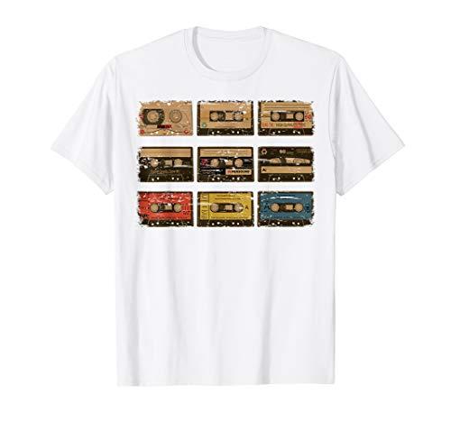 Nine Vintage Cassette Tapes Shirt | Cute Old Cartridges Gift