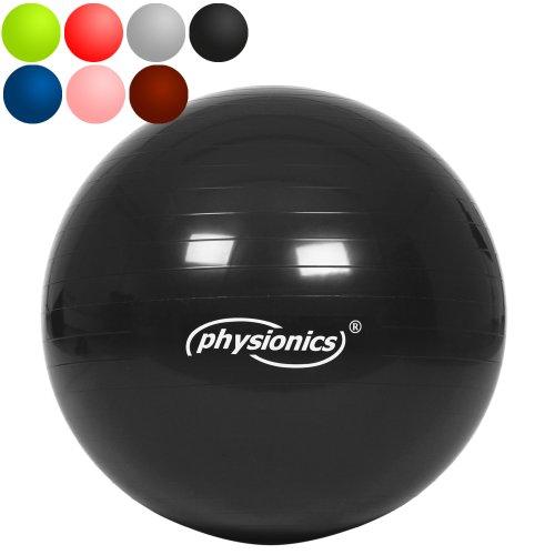 Gymnastikball 65cm Onyx (schwarz) Fitness- / Sitzball inkl. Pumpe
