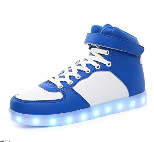 Skateboard Sneakers Leisure up Unisex Couples Light Luminous Trainers LED USB IshowStore Charging Shoes Sports B6vwqx57n