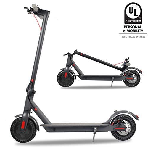"""Emaxusa Electric Scooter for Adults,US Federal Agency Safety UL Certified,8.5"""" Solid Tires 300W Motor Speed 15.8 MPH,Up to 14 Miles,Long Range Battery,Portable Folding Electric Scooters for Adults"""
