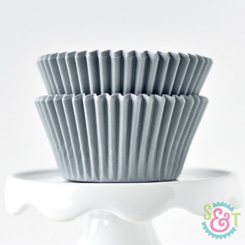 Solid Gray BakeBright Greaseproof Cupcake Liners