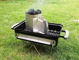 Outdoor Small Rapid Fire Compact Chimney Starter Canister with Meat Shredder Combo (Small Chimney Starter)
