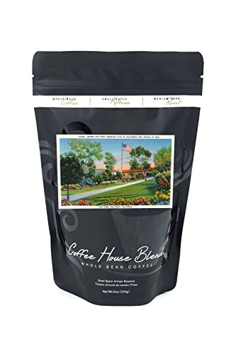 San Diego, California - Old Town Plaza Flagpole View (8oz Whole Bean Small Batch Artisan Coffee - Bold & Strong Medium Dark Roast w/ - Diego San Plaza
