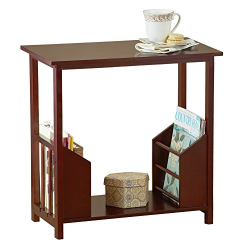 Small Table For Bathroom. Wooden Magazine Organizer Table Brown