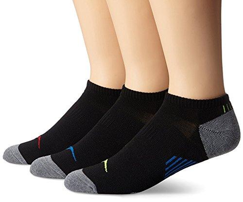 (Saucony Men's 3 Pack Ventilator Low Cut Socks, Black, Sock Size: 10-13/Shoe Size:9-11)