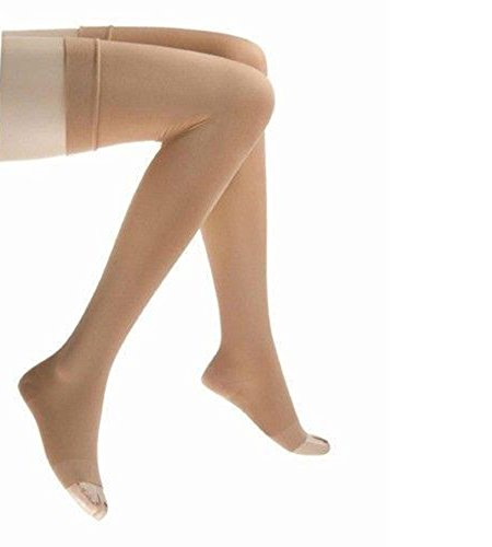 JOBST Relief Compression Stockings, 30-40 mmHg, Thigh High, Open Toe, Beige, Large