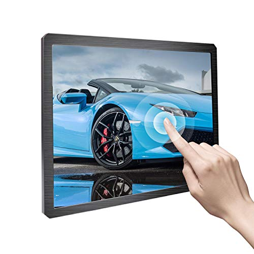 UPERFECT Touchscreen 12.3 Inch Portable Display 1600×1200 4:3 PC Monitors Wall Mounted Fit for HDMI Industrial Computer Laser Marking Car Advertising CCTV FPV TV Box POS Cash Register Gaming PS4 Xbox
