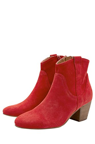 next Bottines Western en Cuir Femme Regular Rouge EU 40