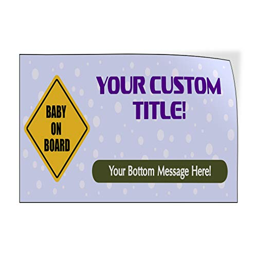 Baby Shower Message C Lifestyle Baby Shower Celebration Outdoor Luggage /& Bumper Stickers for Cars Purple 30X20Inches Set of 5 Custom Door Decals Vinyl Stickers Multiple Sizes Your Title
