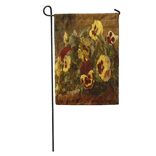 NgkagluxCap Garden Flag Pansies by Henri Fantin Latour 1903 French Impressionist Painting Oil Home Yard House Decor Barnner Outdoor Stand 12x18 Inches Flag