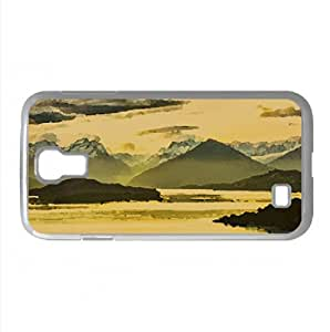 Mountains Panorama, HDR Watercolor style Cover Samsung Galaxy S4 I9500 Case (New Zealand Watercolor style Cover Samsung Galaxy S4 I9500 Case)