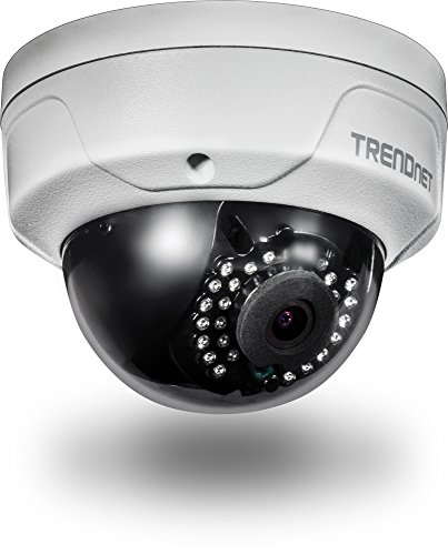 TRENDnet Indoor/Outdoor 4 Megapixel HD PoE IR Dome Style Day/Night Network Camera, Digital WDR, 2688 x 1520p, IK10 Vandal Proof, IP66 Rated Housing, 100ft. Night Vision, ONVIF, IPv6, TV-IP315PI ()
