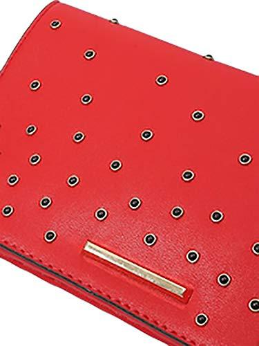 Con Magnetico Rosso Pochette E Borsetta Tracolla Chiusura Donna Elegante Mywy Rivetti Bottone vtwBqPTPx