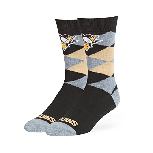 NHL Pittsburgh Penguins OTS Blaine Dress Sock, Black, Large