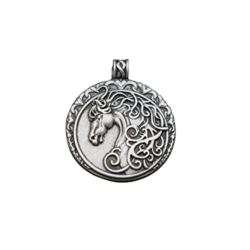 SanLan Horse Head Neckalce Dressage Horse Pendant Jewelry Gift For Horse Lover Prancing (Dressage Horse Head)