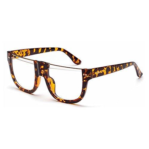 mujer cuadrado grande hombres normal Gafas TL marco gafas de de Rosso enormes sombras personalidad de verde medio gafas sol gafas Sunglasses sol de para marco 71OIUOFw