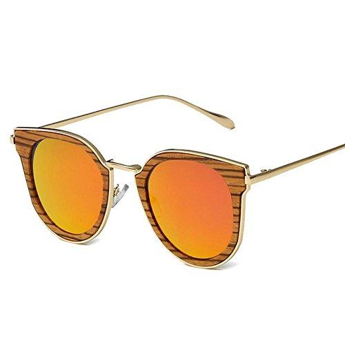 Bambú o Polarizada Aire Puro Sol al Gafas a Mujeres Capa y de Lentes Mano de Sol Hecho Hombres de UV Gafas YANKAN Libre C para Conducción Aumento para la nF8wZ0qFS