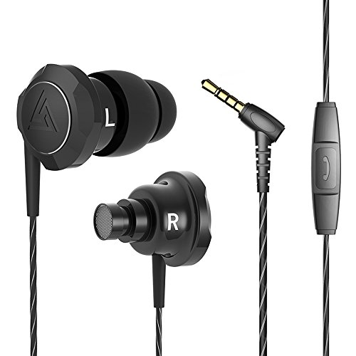 Hybrid Pro HD / Hybrid Pro Earphone Triple / Dual Driver Dynamic + Balanced Armature Mi In-Ear Line Control Mic - Hybrid Nipple