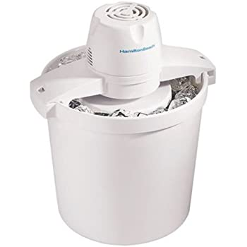 Hamilton Beach 68330N 4-Quart Automatic Ice-Cream Maker,Cream