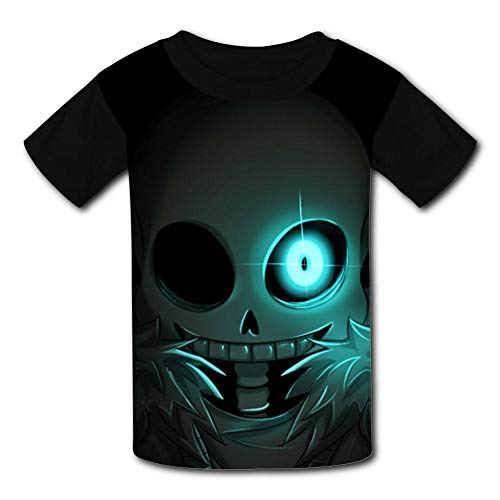 Un-der-Tale San-s Eyes Kids T-Shirts Short Sleeve Tees Summer Tops for Youth/Boys/Girls Black