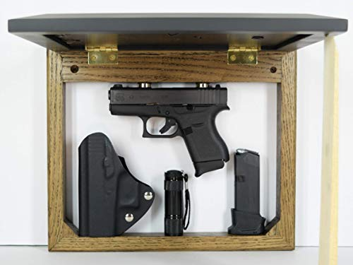 Hide a gun furniture, pistol storage spot, home defense accessory, wall mount firearm safe, picture frame concealment organizer, magnet dark
