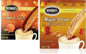 Nonnis Biscotti Fall Flavors- One Box Each of Maple Pecan and Pumpkin Spice