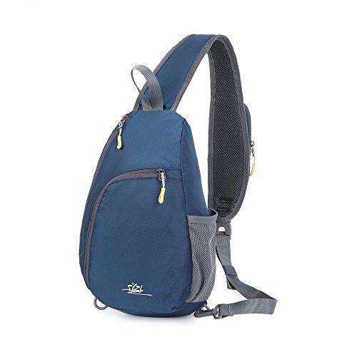 Lankey Rope Sling Bag - Crossbody Backpack Wear Adjustable Shoulder Strap - Multipurpose Sports/Travel/Hiking Backpack for Women & Men-With Hidden Anti-Theft Pocket by Lankey