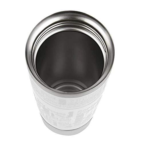 Emsa 515682 Vaso térmico Grande con Manguito, 0.50 L, Tanto para Caliente como para frío, se Puede Lavar en lavavajillas, 100% Sellado, Apertura de 360 ...