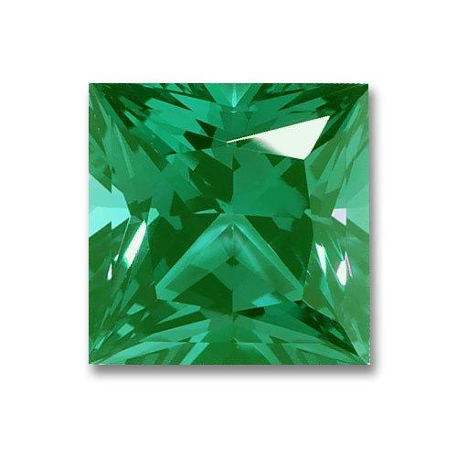 6x6mm Princess Cut Gem Quality Chatham Lab-Grown Emerald .87-1.07 (Cut Chatham Emerald)