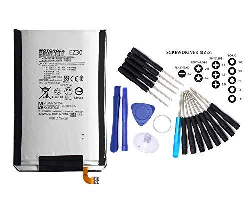 Genuine EZ30 Battery 3220mAh Compatible for Motorola Google Nexus 6 (XT1103) w/Free Installation Tools