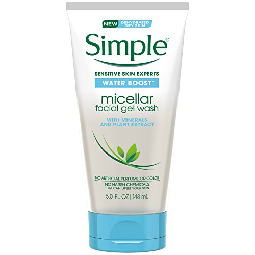 Simple Water Boost Micellar Facial Gel Wash, Sensitive Skin 5 oz