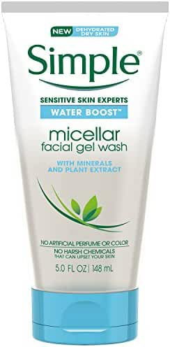 Simple Water Boost Micellar, Wash, Facial Gel, Sensitive Skin, 5 Ounce