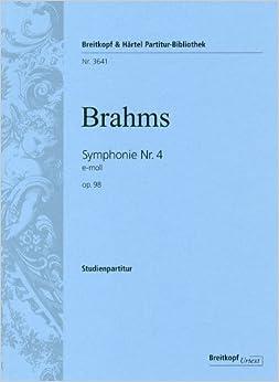 ブラームス: 交響曲 第4番 ホ短調 Op.98/ブライトコップ & ヘルテル社/小型スコア