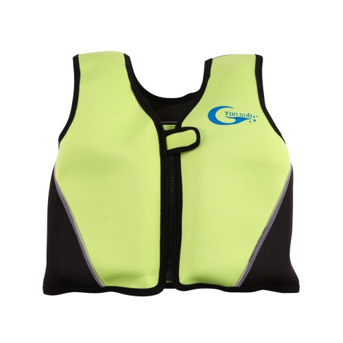 Baby Kids Swimming Life Jacket Swim Float Buoyancy Aid Vest Kayak Sailing Black Yellow 3 6y