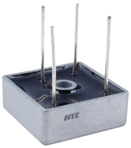 NTE Electronics NTE5324W Full Wave Single Phase Bridge Rectifier with Wire Leads, 25 Amps, 400V Maximum Recurrent Peak Reverse Voltage