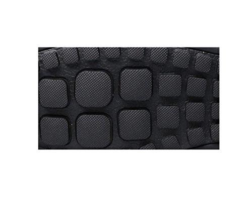 Casual Nastro Scarpe A Stivali Punta Morbido Colore Sportivi Black Uomo in Stagione Pelle Tondo Sandali Affari Tela r0qxzrfBw