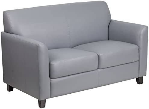 Flash Furniture HERCULES Diplomat Series Gray LeatherSoft Loveseat