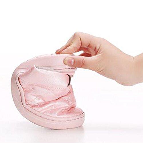 agua interna a Eastlion Zapatillas Zapatillas de interior para de 1 y hombre de prueba con PU de Manténganse mujer calientes sandía antideslizantes de Rosa felpa wxT6xPR